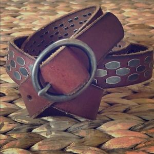 "J. Crew 45""szL brown leather belt"